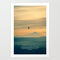 Experience travel. Alone. Art Print