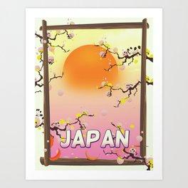 Japan Blossom Garden Art Print