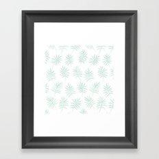 Mint Palms Framed Art Print