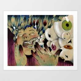 Dirty Fingers Art Print