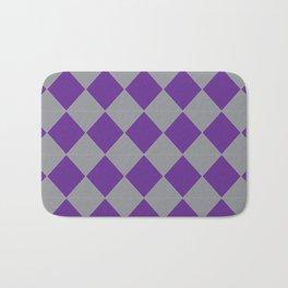 Silver and Purple Bath Mat