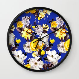 PHOTO Floral - D&G inspired - Yellow Wall Clock