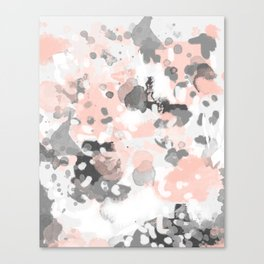 grey and millennial pink abstract painting trendy canvas art decor minimalist Canvas Print