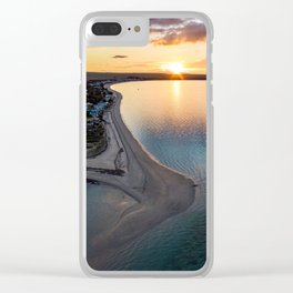 Black Point sunset Clear iPhone Case