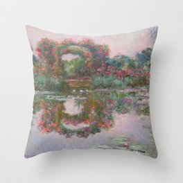 FLOWERING ARCHES IN GIVERNY - MONET  Throw Pillow