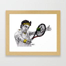 Tennis Federer Framed Art Print