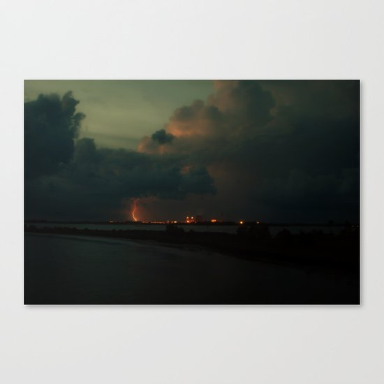Lightning Meets Nuclear Plant Canvas Print
