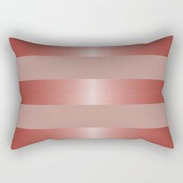 Rose Gold Metallic Stripes & Mauve Rectangular Pillow