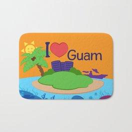 Ernest & Coraline | I love Guam Bath Mat