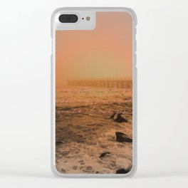 when the sea seems to vanish in the haze Clear iPhone Case