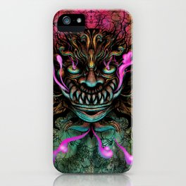 Japanese Dragon Mask iPhone Case