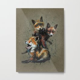 Little fox background Metal Print