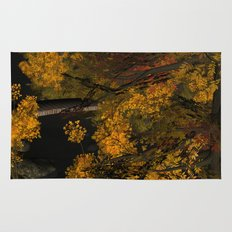 Autumn Leaves and Stream Rug