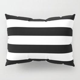 Horizontal Stripes (Black/White) Pillow Sham