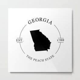 Georgia - The Peach State Metal Print