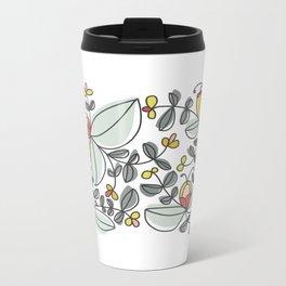 Watercolor Floral Metal Travel Mug