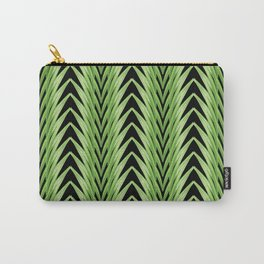 amaryllis stripe on black Carry-All Pouch