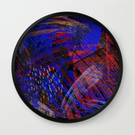 Abstract blue background Wall Clock