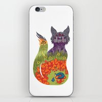 alice in wonderland iPhone & iPod Skins featuring Wonderland by Heather Searles