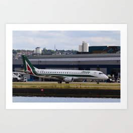 Alitalia  Embraer ERJ-190 London City Airport Art Print