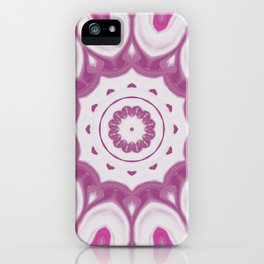 Amethyst & Hot Pink Gemstone Liquid White Smoke Kaleidoscope 3 Digital Painting iPhone Case