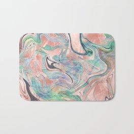 Pastel Rose Gold Mermaid Marble Bath Mat