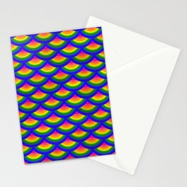 Rainbow Fish Scales Mermaid Pattern Stationery Cards