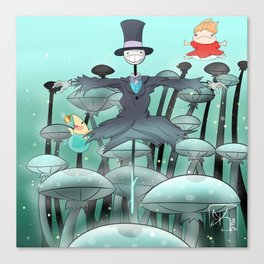 Studio Ghibli Jumping Canvas Print