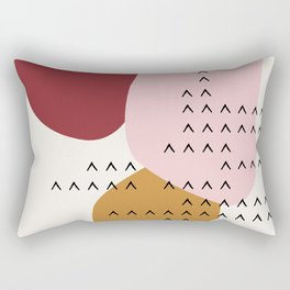 Big Shapes / Mountains Rectangular Pillow