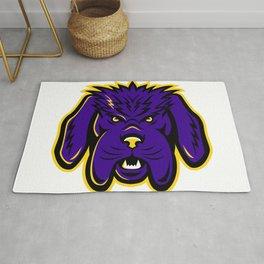 Newfoundland Dog Mascot Angry Rug