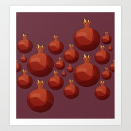 Pomegranate - Pallete I Art Print