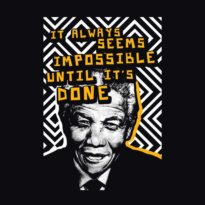 Nelson Mandela Cool Quote It Always Seems Impossible Comforters By