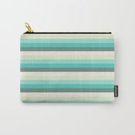 soft green stripes Carry-All Pouch