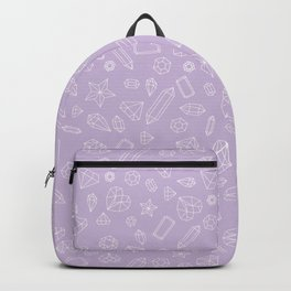 Purple Gem Pattern Backpack