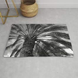 Palm Trees in Noir As Storm Clouds Dissipate Rug