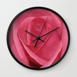 Blushing Rose Wall Clock