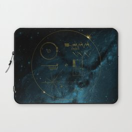 Voyager and the Golden Record - Space | Science | Sagan Laptop Sleeve