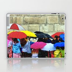 Standing in a Pouring Rain Laptop & iPad Skin