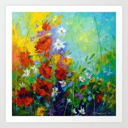 Rhythm of summer flowers Art Print