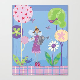 Fairy in the Garden Canvas Print