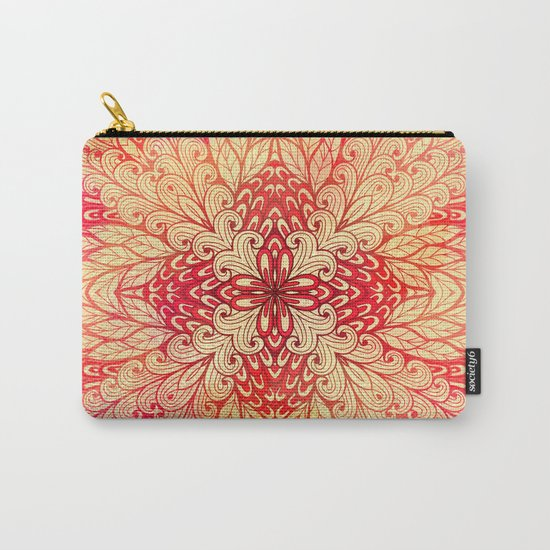 Hand Drawn Floral Mandala 02 Carry-All Pouch