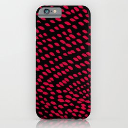 Red Petals in the Wind iPhone Case