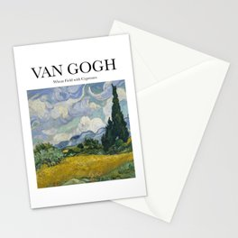 Van Gogh - Wheatfield with Cypresses Stationery Cards