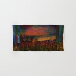 The Surface of Solitude-Last Light Hand & Bath Towel
