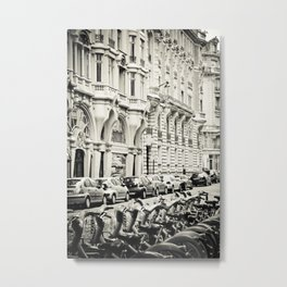 Parisian Street Metal Print