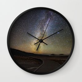 Grand Prismatic Spring Under The Milky Way Wall Clock