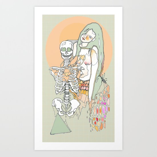 life & death Art Print