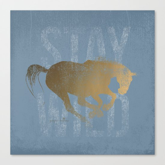 Horse (Stay Wild) Canvas Print