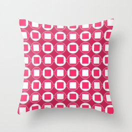 Strawberry Contemporary Bead Pattern Throw Pillow