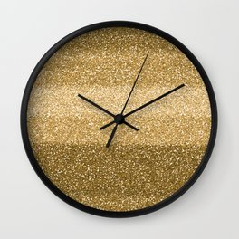 Glitter Glittery Copper Bronze Gold Wall Clock